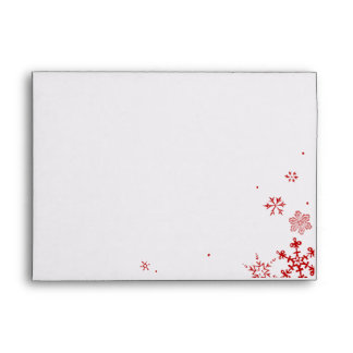 Holiday Snowflakes Envelopes