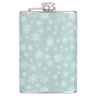 Holiday Snowflakes Merry Christmas Flask