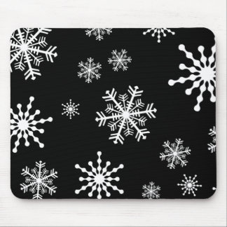 Holiday Snowflakes Mouse Pad