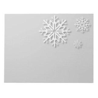 Holiday Snowflakes Notepad
