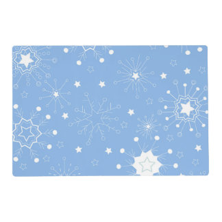 Holiday Snowflakes on Blue Placemat