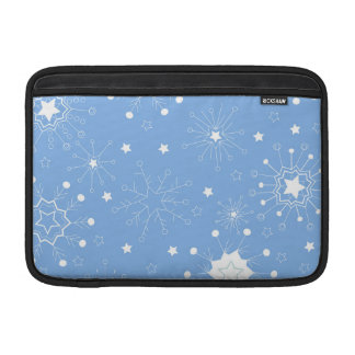 Holiday Snowflakes on Blue Sleeve For MacBook Air