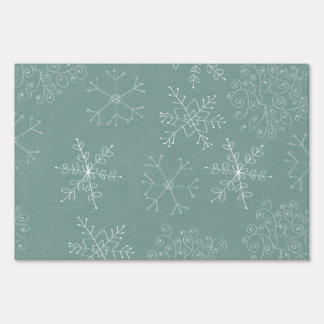 Holiday Snowflakes Pattern Sign