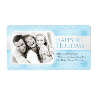 Holiday Snowflakes photo label