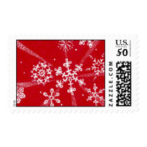 Holiday Snowflakes Postage