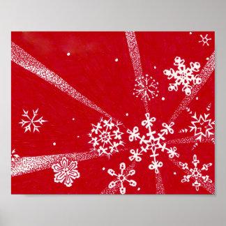 Holiday Snowflakes Print