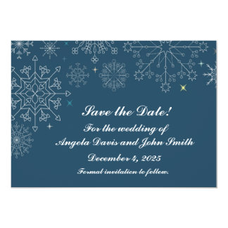 Holiday Snowflakes Save the Date Card