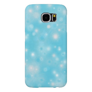 Holiday snowflakes white and blue pattern samsung galaxy s6 cases