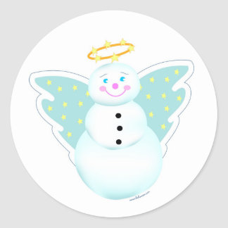 Holiday Snowman Angel Label Stickers