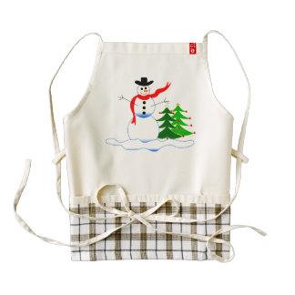 Holiday Snowman Apron