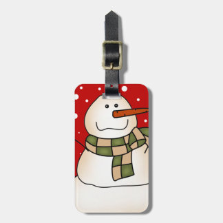 Holiday Snowman Bag Tag