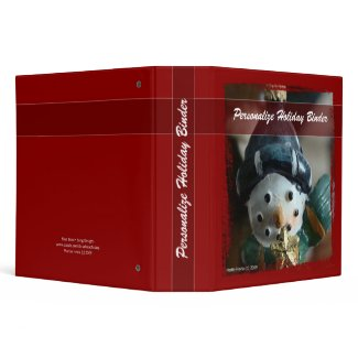 Holiday Snowman Binder - Personalize It binder