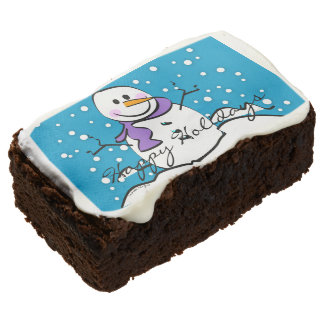 Holiday Snowman Brownie