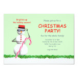 Holiday Snowman Christmas Party Personalized Invites