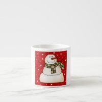 Holiday Snowman Espresso Cup