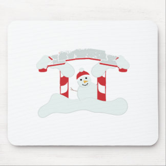 Holiday Snowman Mouse Pad