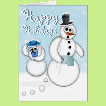 Holiday Snowman Poop Card