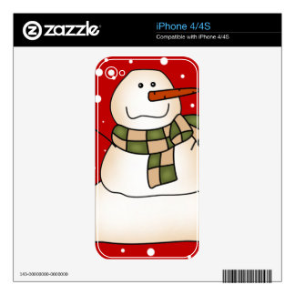 Holiday Snowman Decal For The iPhone 4