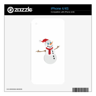 Holiday Snowman Skin For The iPhone 4