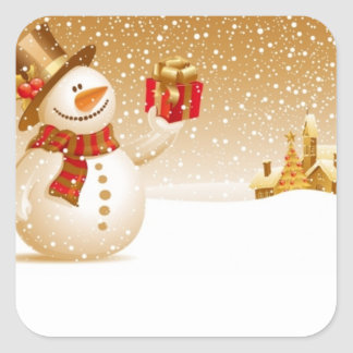 Holiday Snowman Stickers