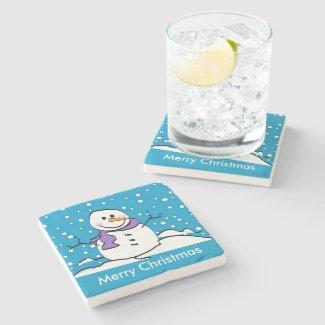stone Snowman coasters