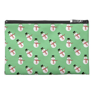 Holiday Snowmen Travel Accessory Bags