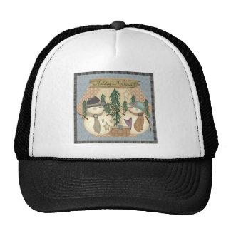 Holiday Snowmen Trucker Hat