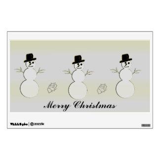 Holiday Snowmen Wall Sticker