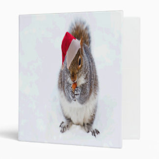 Holiday Squirrel 3 Ring Binder