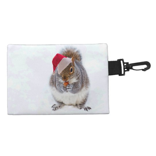 Holiday Squirrel Accessory Bag
