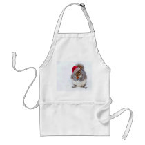 Holiday Squirrel Adult Apron