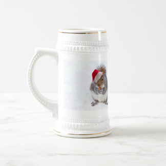 Holiday Squirrel Beer Stein