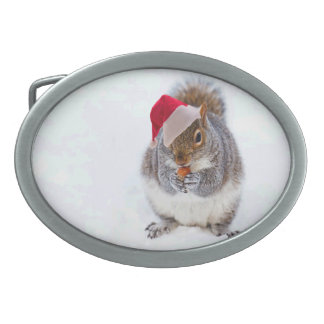 Holiday Squirrel Belt Buckles