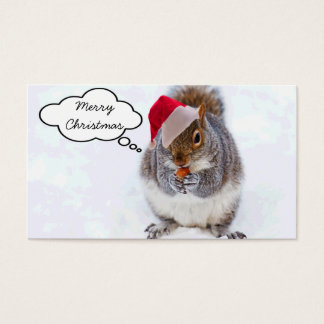 Holiday Squirrel Business Card