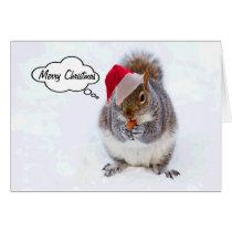 Holiday Squirrel Card