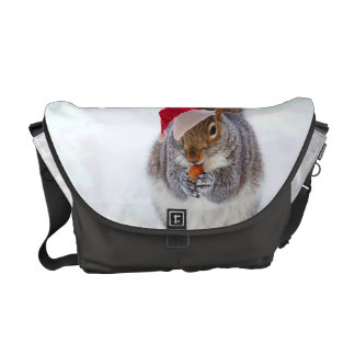Holiday Squirrel Courier Bag