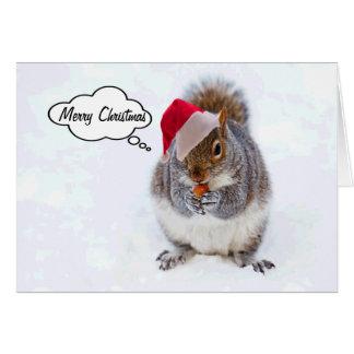 Holiday Squirrel Greeting Card