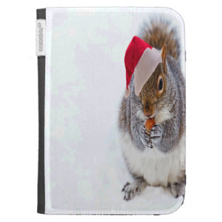Holiday Squirrel Kindle 3 Cases