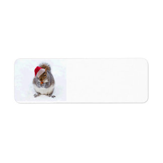 Holiday Squirrel Label