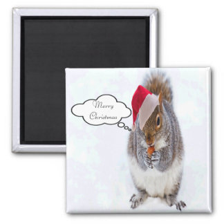 Holiday Squirrel Magnet