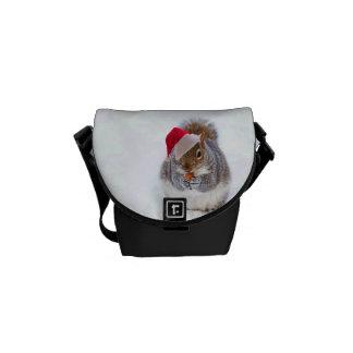 Holiday Squirrel Messenger Bag