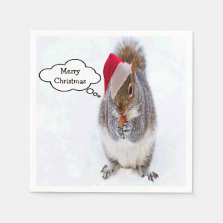 Holiday Squirrel Paper Napkin