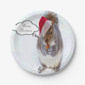 Holiday Squirrel Paper Plate