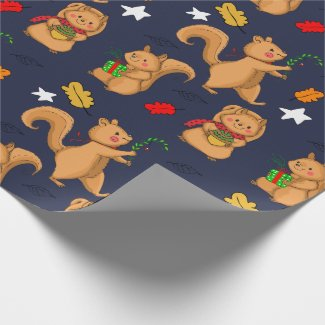 Holiday Squirrel Pattern