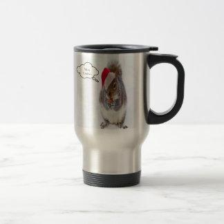 Holiday Squirrel Travel Mug