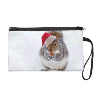 Holiday Squirrel Wristlet Purse