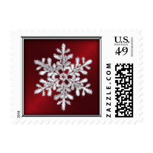 Holiday Stamp Snowflake Red