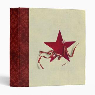 Holiday Star and Ribbon Scrapbook Binder