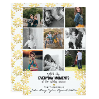 Holiday Star Everyday Moments 9 Photo Collage Card