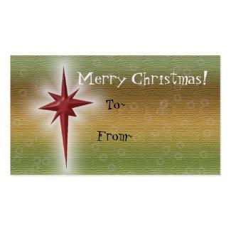 Holiday Star Gift Tags profilecard